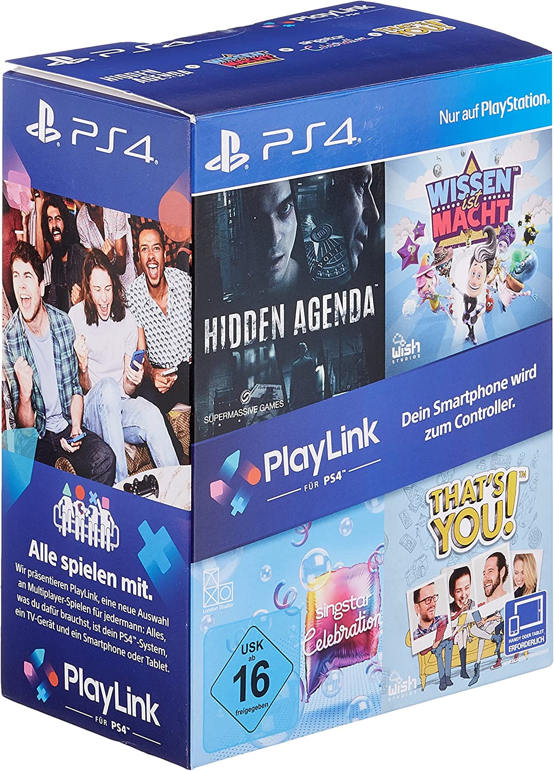 [amazon.de] PlayLink Bundle (Wissen ist Macht, Hidden Agenda, SingStar Celebration & That's You!) – PS4 um 12,99€