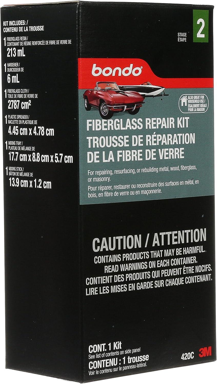 Bondo Fiberglass Resin Repair Kit, 00420, 0.45 Pint
