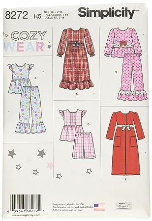 Simplicity Muster 8272 K5 Kind \'s und Girl \'s Nachtwäsche und ...