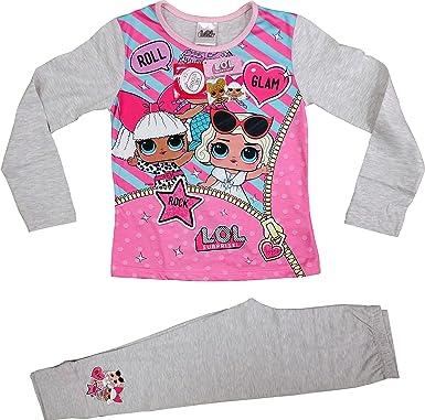 LOL Surprise Dolls - Pijama para niñas (algodón suave)