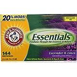 Arm & Hammer Essentials Dryer Sheets, Lavender & Linen, 144 Count