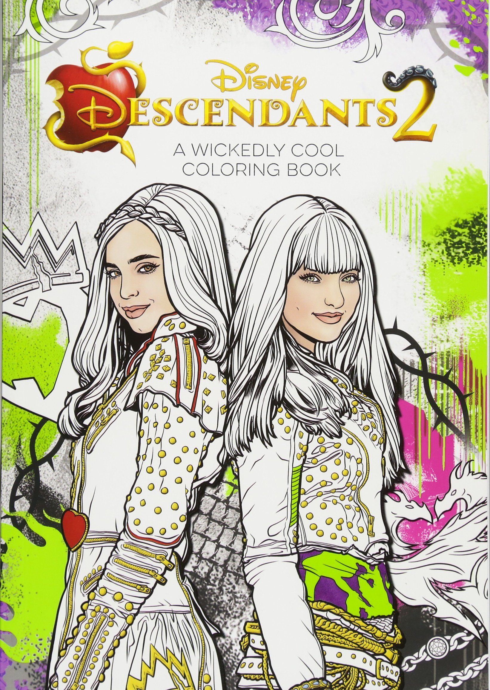 Amazoncom Descendants 2 A Wickedly Cool Coloring Book Art of