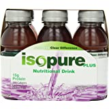 Isopure Plus Nutritional Drink Grape Frost, 8-Ounces, 6-Count (Pack of 4)