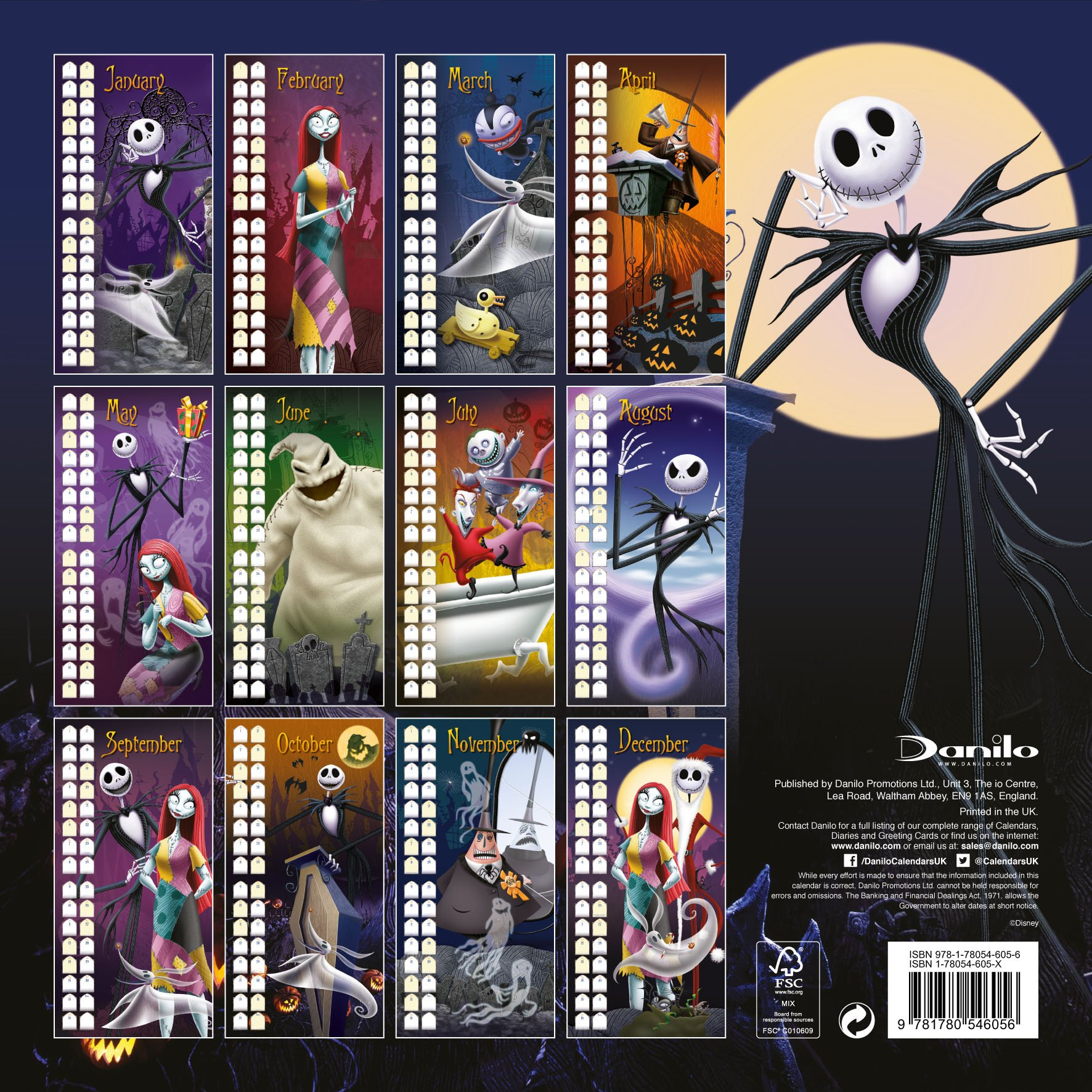 Official Nightmare Before Christmas Calendar 2015: 9781780546056 ...