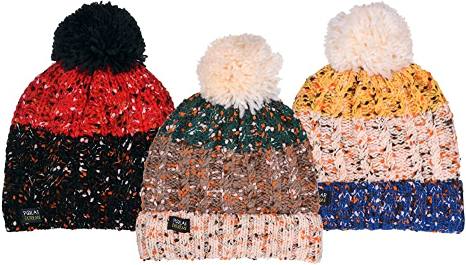 Polar Extreme Womens Insulated Thermal Old Fashion Knit Beanie 3