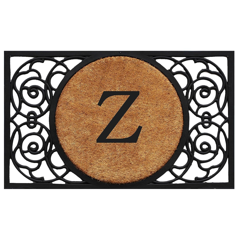 Black Z Home & More 180032236G Armada Circle Monogram Doormat 22  X 36  (Letter G),