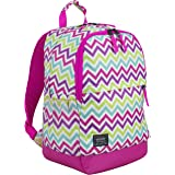Eastsport Everyday Classic Backpack with Interior Tech Sleeve (Hot Pink/Spike Chevron Print)