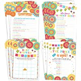 Fiesta Mexican Baby Shower Games, Bingo, Find The Guest, The Price Is Right, Who Knows Mommy Best, 25 games each