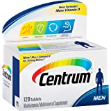 Centrum Men (120 Count) Multivitamin/Multimineral Supplement Tablet, Vitamin D3