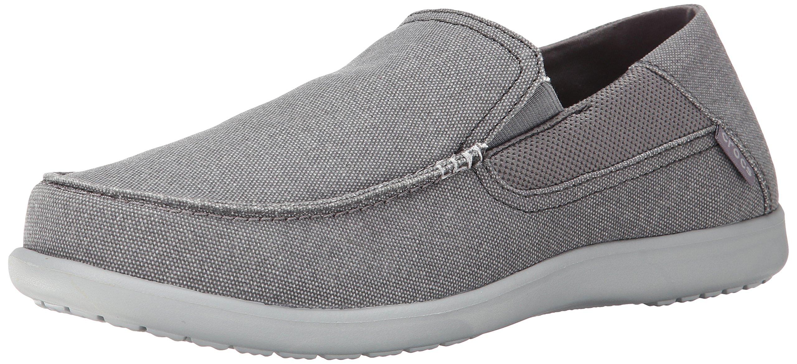 Crocs Men's Santa Cruz 2 Luxe M Slip-On Loafer, Charcoal/Light Grey, 13 D(M) US