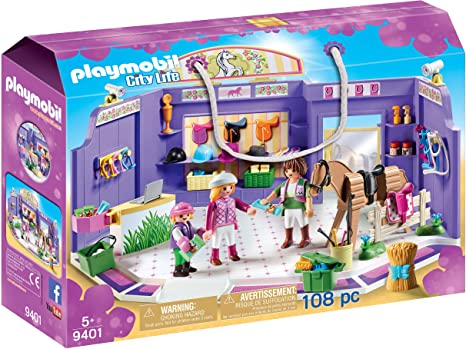 Amazon.com  PLAYMOBIL® Horse Tack Shop  Toys   Games d0c2c66719ff