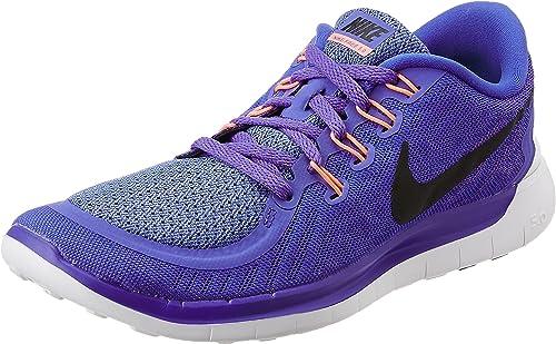 Nike Free 5.0, Zapatillas de Running Para Mujer, color multicolor (lila/schwarz), talla 38 EU: Amazon.es: Zapatos y complementos