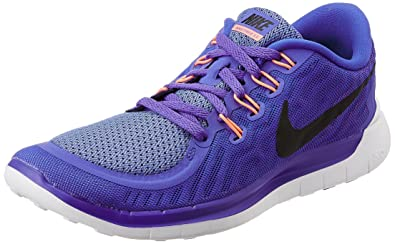 Nike Women's Free 5.0 Perisan Violet,Black,Aluminium,Fuchsia Glow Running  Shoes -