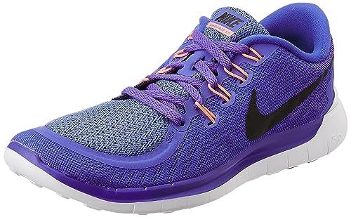 sports shoes 43fde bd308 Nike Women s Free 5.0 Perisan Violet,Black,Aluminium,Fuchsia Glow Running  Shoes -