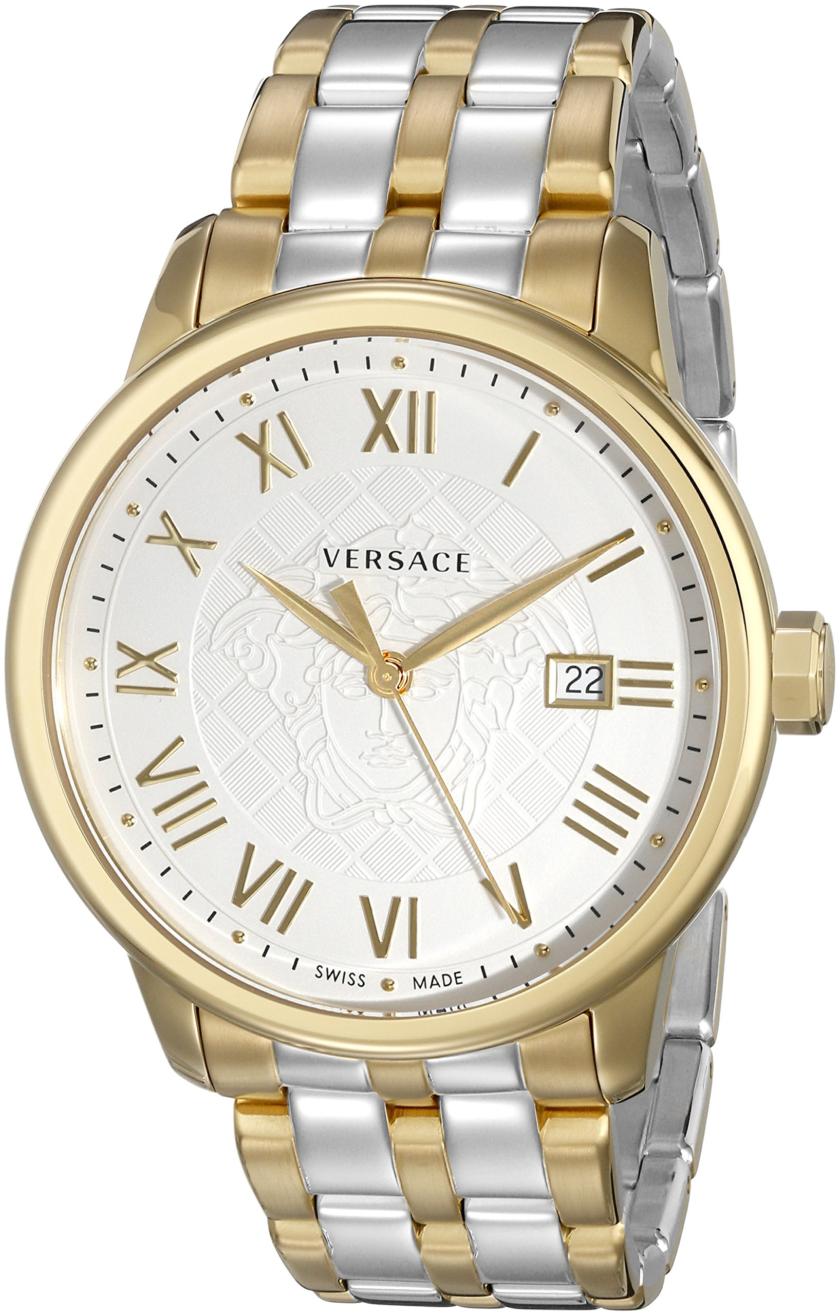 Versace Men's VQS050015 Business Two-Tone Stainless Steel Watch by Versace
