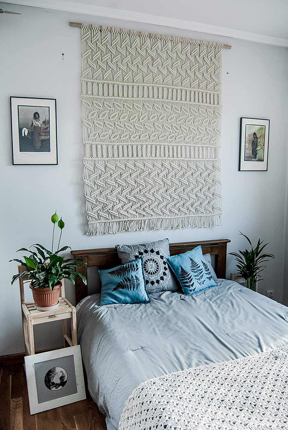 Amazon.com: Bedroom decor – macrame wall hangings, wall ...