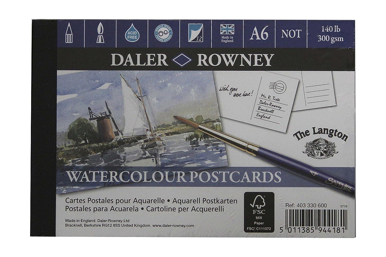 Daler Rowney aquarelle artists watercolour TEXTURE pad A6 postcard size 12119401