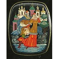 10.J. CAJA RUSA LACADA - Escuelas de pintura cajas rusas lacadas: Palej,Fedóskino,Joluy,Mstiora