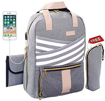 a459c87279 Diaper Bag Backpack – Large Multi-Function Waterproof Travel Backpack for  Best Mom Dad Women