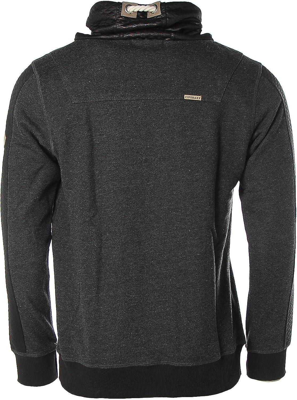 CIPO&BAXX Herren Sweatshirt Materialmix Grau