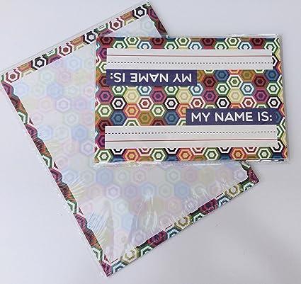 amazon com classroom name plates computer paper colorful