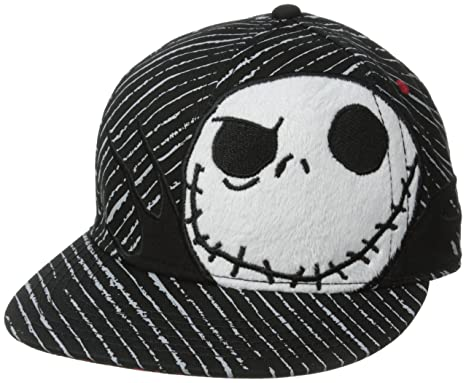Nightmare Before Christmas Snapback Hat, Black, One Size at Amazon ...