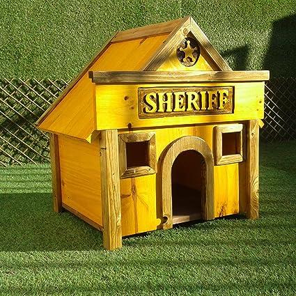 PH Caseta para mascotas madera tratada para exterior