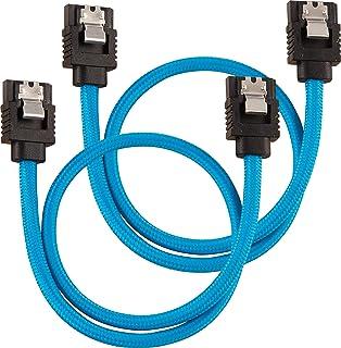 C/âble SATA gain/é CORSAIR Premium noir SATA 6Gbps 60 cm