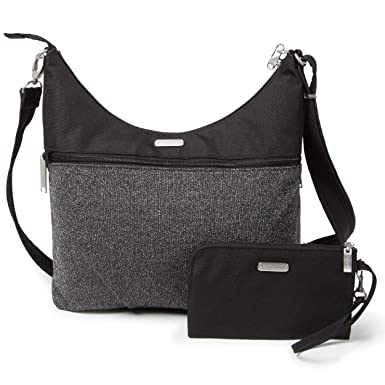 Baggallini Anti-Theft Hobo Bag - Stylish Travel Purse With Locking Zippers  and RFID- 9fd936f111fca