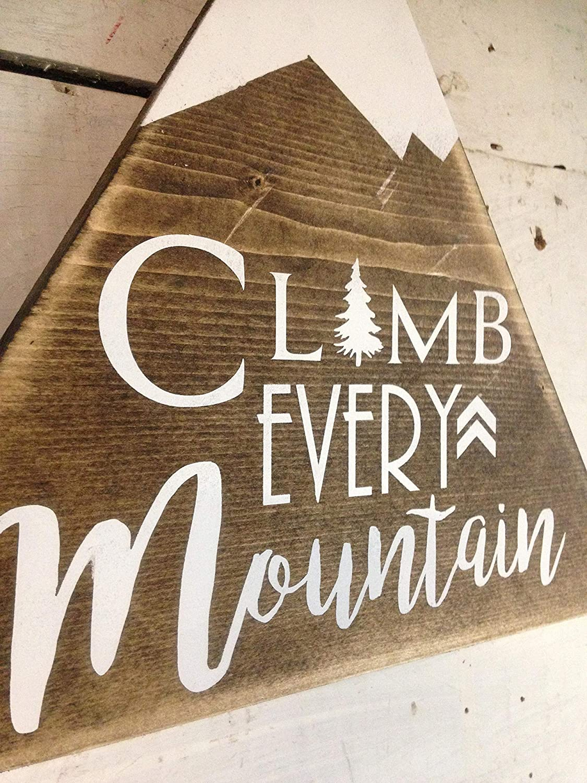 Climb Every Mountain Woodland Nursery Decor Wood Signs zhanggru22337