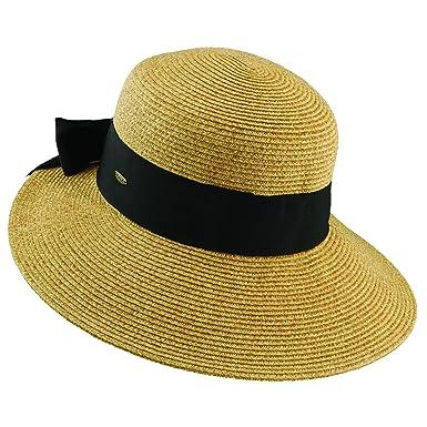 e9df62351b27c Scala Paper Braid Big Brim Sun Summer Hat (Tea) at Amazon Women s Clothing  store
