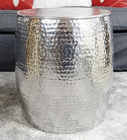 MichaelNoll 40 cm in alluminio stile orientale colore: Argento Tavolino da salotto