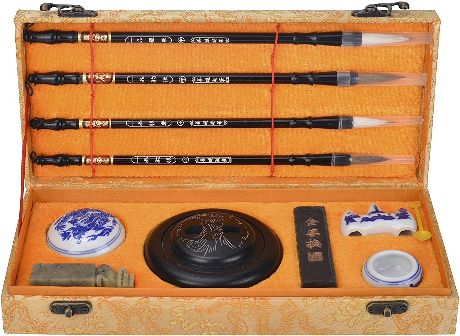 I-MART Chinese Calligraphy Brush, Kanji, Sumi Water Writing, Painting Set