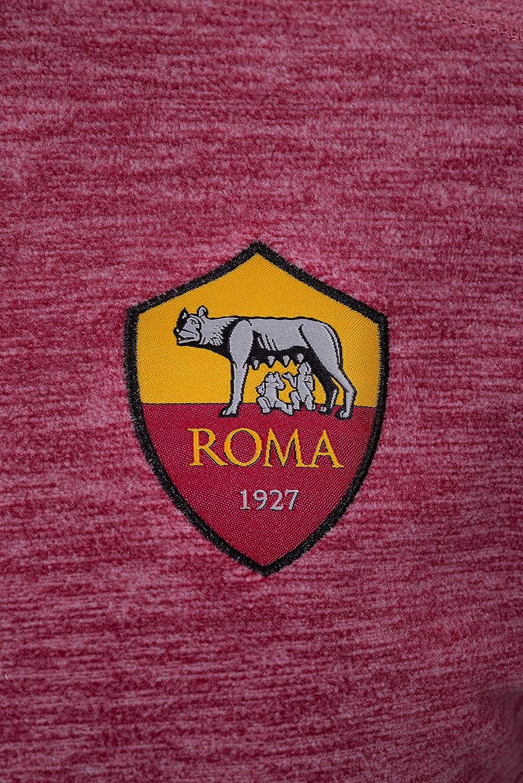 Uomo AS Roma Felpa in Pile con Cappuccio