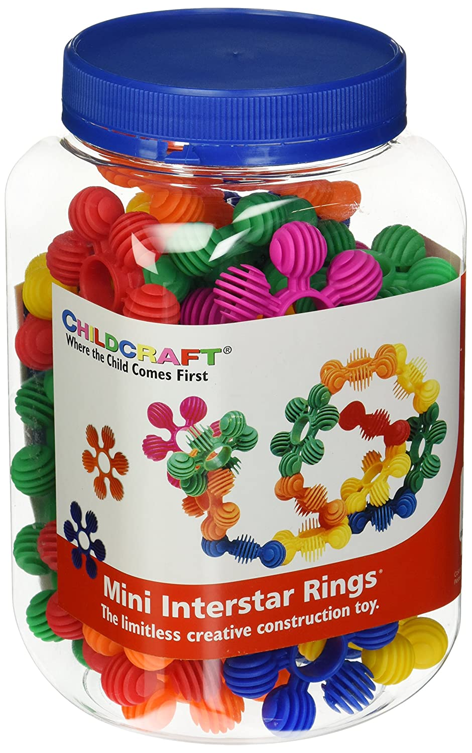 Childcraft Toddler Manipulatives Mini Interstar Rings, Set of 40 - 1435216