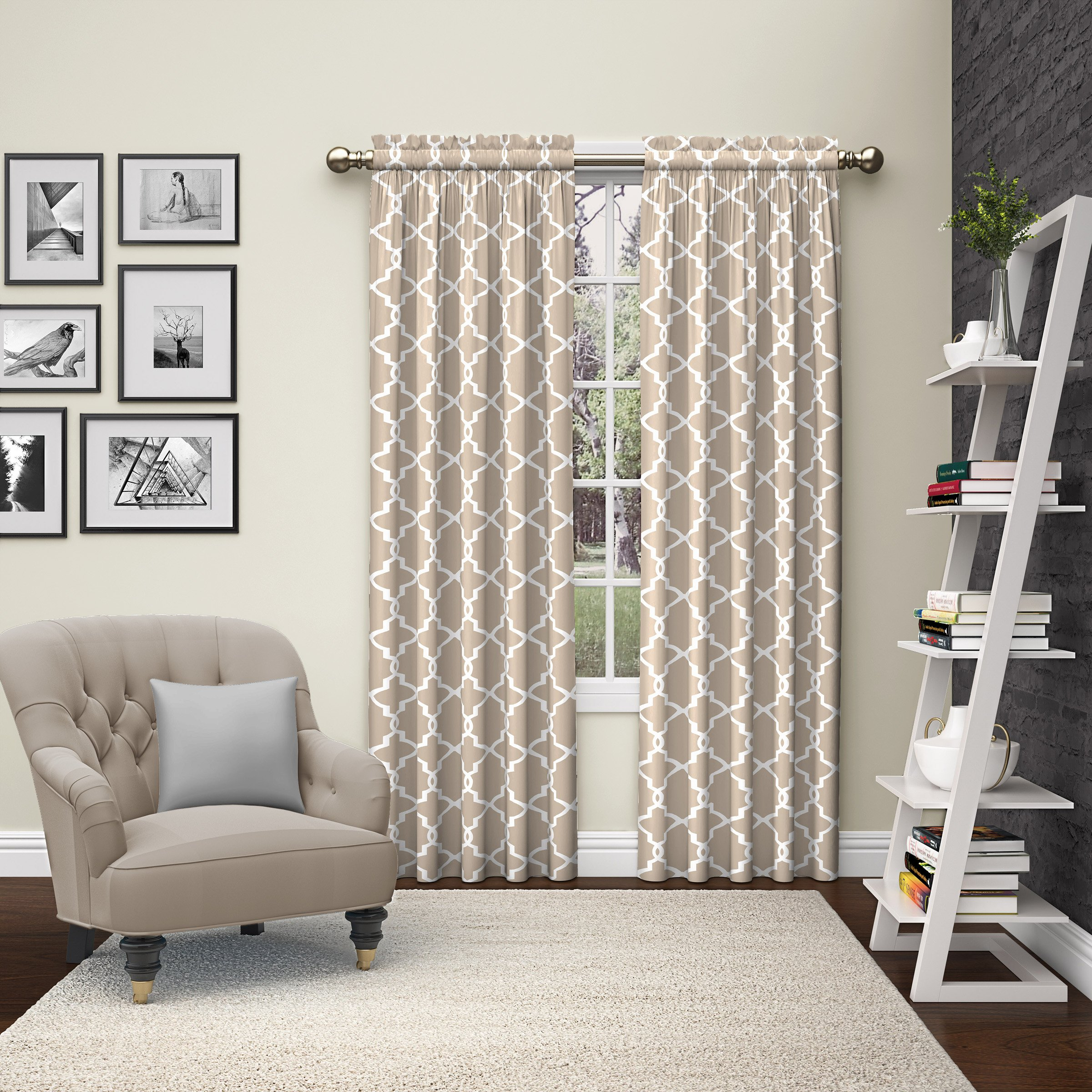 Pairs to Go 15617056X084SPA Vickery 56-Inch by 84-Inch Window Curtain Pair, Spa