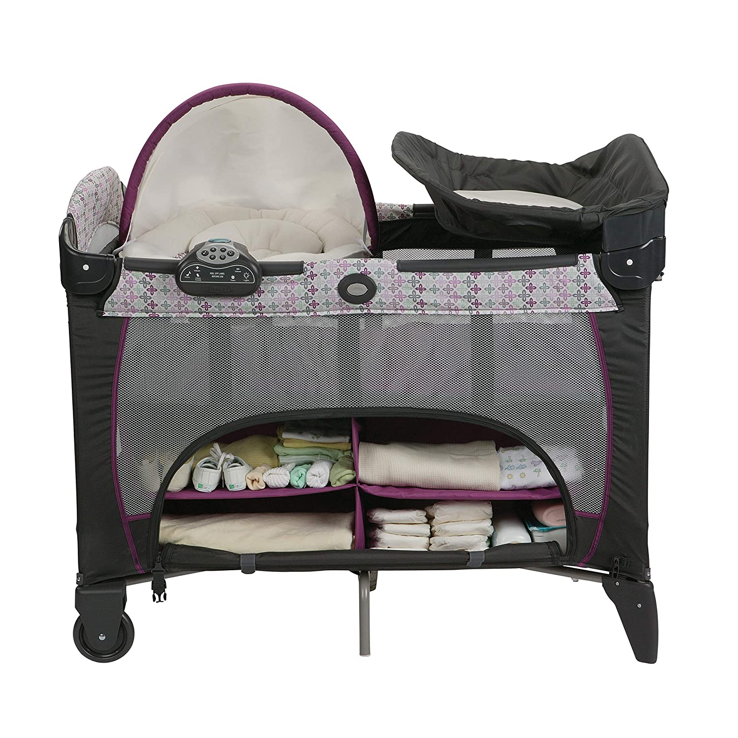 Graco Pack N Play Playard with Newborn Napperstation DLX Nyssa