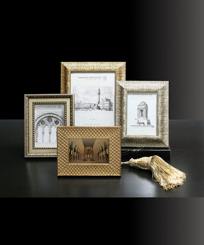 Silver Maxxi Designs 5 X 7 Ravenna Frame Wavy Pattern