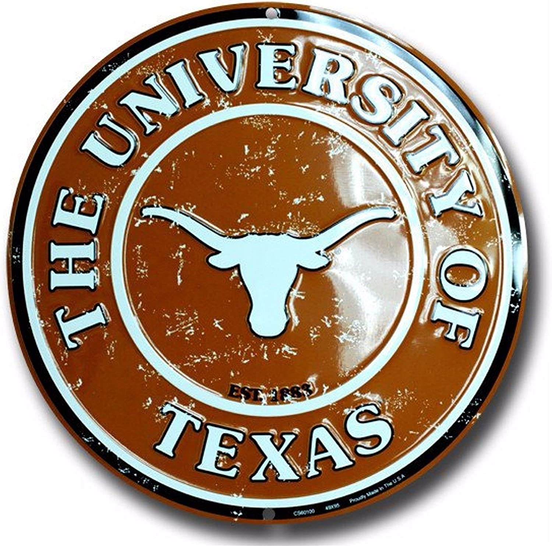 Tag City Texas Tech 12 Inch Embossed Metal Nostalgia Circular Sign