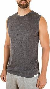 Woolly Clothing Men's Merino Tank - Moisture Wicking, Anti-Odor, Casual Athletic wear