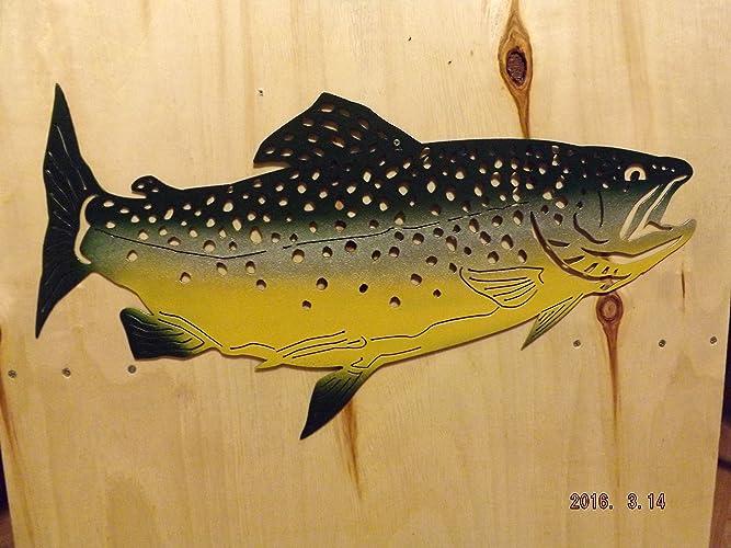 Amazon.com: Beautiful Handmade Lodge Multi-Color Metal Fish Wall Art ...