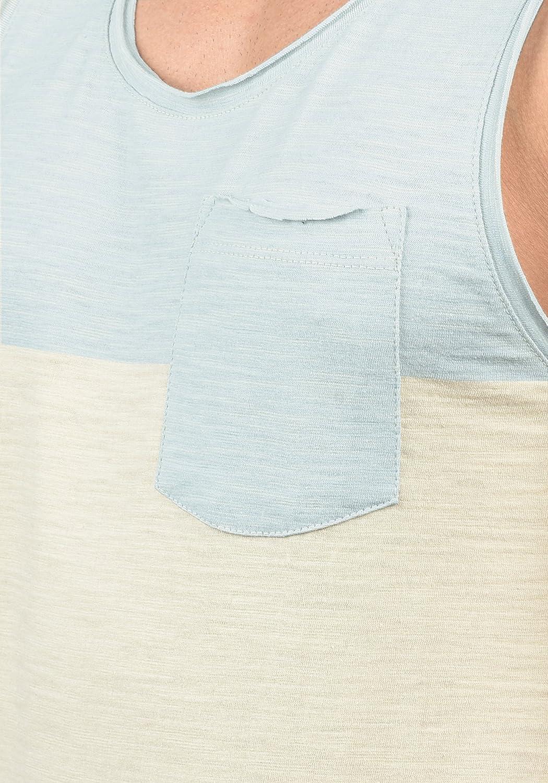Blend Johans Camiseta B/ásica De Tirantes Tanque Tank Top para Hombre con Cuello Redondo