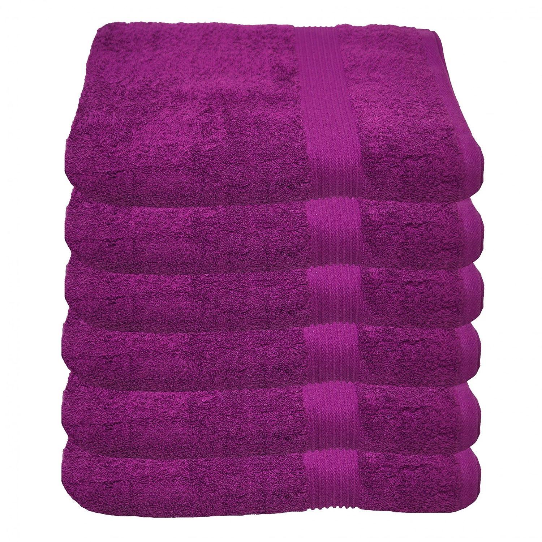Julie Julsen Set di 6asciugamani 50x 100cm, disponibili in 23colori, morbidi e assorbenti, 500g/m², standard Öko Tex, 100% cotone, Pink, 50 cm x 100 cm