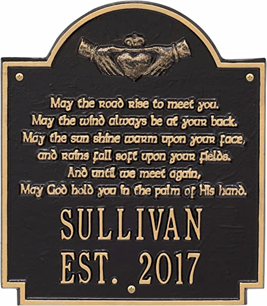 Claddagh Personalized Poem Plaque