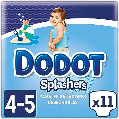 Dodot Splashers Pañales Bañadores Desechables, No se Hinchan y Fácil de Quitar, Talla 4, 9-15 kg  - 11 Unidades