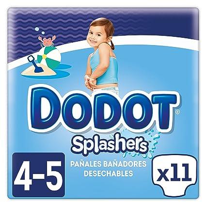 Dodot Splashers - 11 Pañales Bañadores Desechables, 9-15 kg, No Se Hinchan