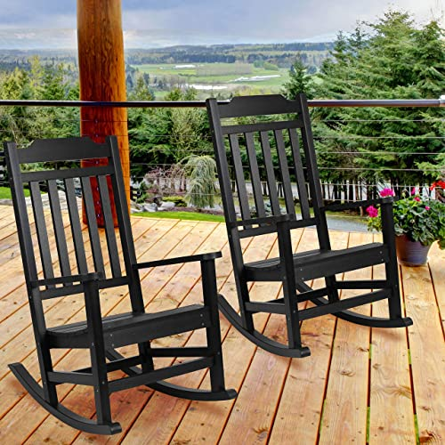 EMMA OLIVER 2 Pack All-Weather Rocking Chair