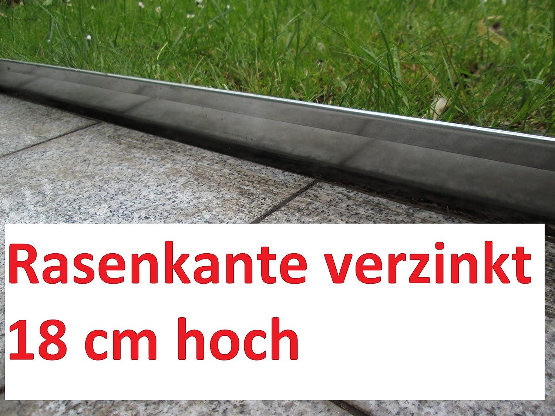 10m Rasenkante Beeteinfassung Mähkante Wegbegrenzung Palisade Verzinkt Garten