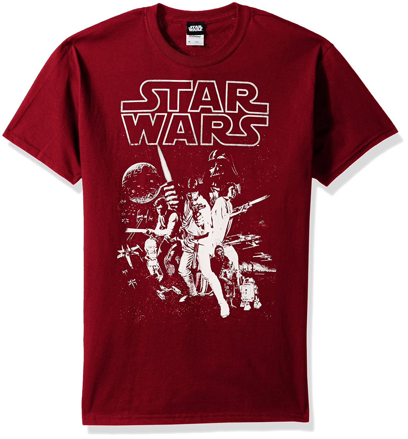 STAR WARS Mens Official Poster Premium Ringer Graphic Tee