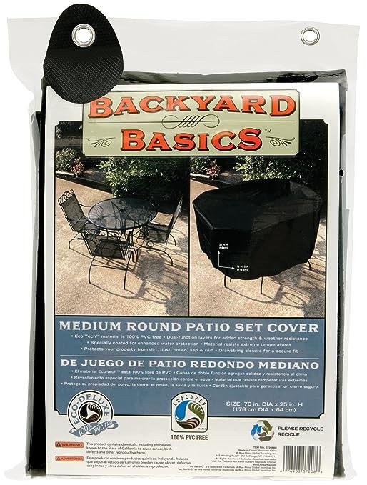 Amazon com   Backyard Basics 70 Inch Round Patio Set Cover   Outdoor And Patio  Furniture Sets   Patio  Lawn   GardenAmazon com   Backyard Basics 70 Inch Round Patio Set Cover  . Round Patio Set Cover. Home Design Ideas